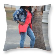 Cool With Braids 6  Throw Pillow