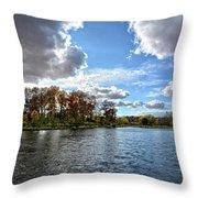 Cooler Days Throw Pillow