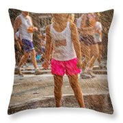 Cooling In The Spray Throw Pillow