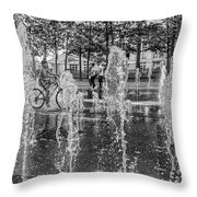 Cooling Off In The Summer Throw Pillow