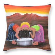 Cooling Off Throw Pillow