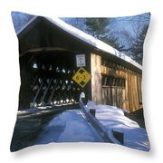 Coombs Winchester Covered Bridge Throw Pillow