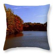 Coonhunter's Lake Throw Pillow