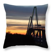 Cooper River Bridge - Charleston Sc Throw Pillow