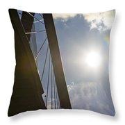 Cooper River Bridge Lens Flair Throw Pillow