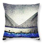 Cooper River Bridge Throw Pillow
