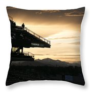 Coors Field At Sunset Throw Pillow