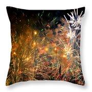 Coors Field Fireworks 3 Throw Pillow