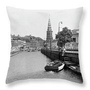 Copenhagen Canal 1 Throw Pillow