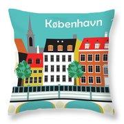 Copenhagen Kobenhavn Denmark Horizontal Scene Throw Pillow