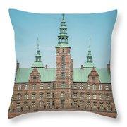 Copenhagen Rosenborg Castle Back Facade Throw Pillow