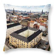 Copenhagen Skyline And Towers Throw Pillow