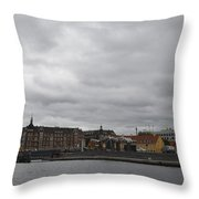 Copenhagen Skyline Throw Pillow