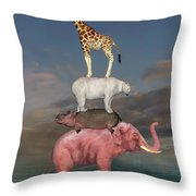 Coporate Collaboration  Throw Pillow