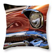 Copper 1957 Chevy Bel Air Throw Pillow