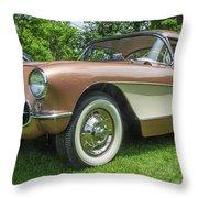 Copper 1967 Corvette  Throw Pillow