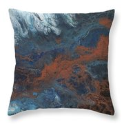 Copper Abstract 2 Throw Pillow