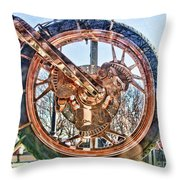 Copper Bike Liberty Ambassador Ny  Throw Pillow