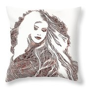 Copper Blonde Throw Pillow