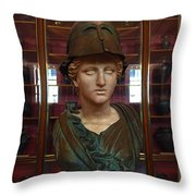 Copper Bust In Rome Throw Pillow