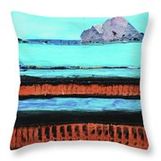 Copper Cliffs Beachside Throw Pillow