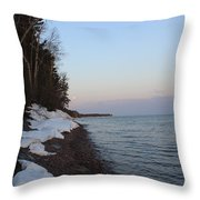 Copper Country Moonset Throw Pillow