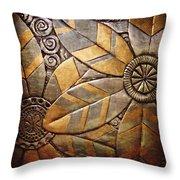 Copper Design Throw Pillow