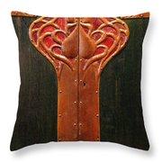Copper Doors  Throw Pillow
