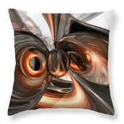 Copper Dreams Abstract Throw Pillow