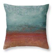 Copper Field Throw Pillow