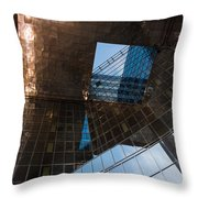 Copper Glass And Steel Geometry - Fabulous Modern Architecture In London U K Throw Pillow