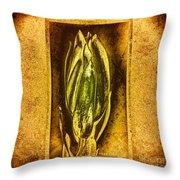 Green Copper Throw Pillow