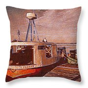 Copper Harbor Waterfront Throw Pillow