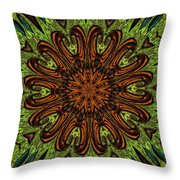 Copper Jewel Throw Pillow