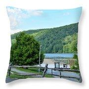 Copper Kettle Trail Throw Pillow