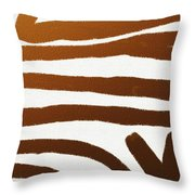 Copper Lines Throw Pillow