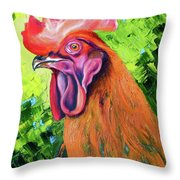 Copper Maran French Rooster Throw Pillow