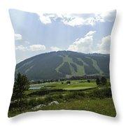 Copper Mountain Ski Area - Copper Mountain Colorado Throw Pillow