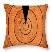 Copper Panel Abstract Throw Pillow
