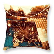 Copper Reflections Throw Pillow
