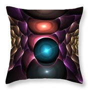 Copper Roses Throw Pillow