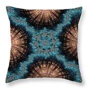 Copper Shells Throw Pillow