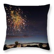 Copper Splash Throw Pillow