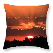Copper Sunset Throw Pillow