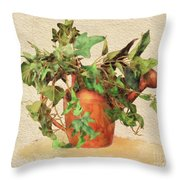 Copper Watering Can Throw Pillow