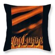 Copper Wirework. Throw Pillow