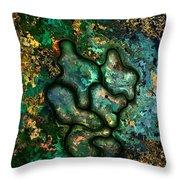 Copper Worker Throw Pillow
