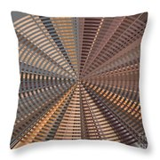 Reflecting On A Bright Copper World Throw Pillow