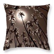 Coppertone Palms Throw Pillow