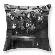 Cops Learn Motorcycle Engines Throw Pillow